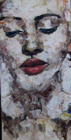 """""""Au Naturelle""""-- Marittie de Villiers, acrylic on canvas."""