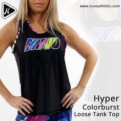 Stay super comfy and look stylish in this Hyper Colorburst Loose Tank Top.  Now Available on http://www.nuvoathletic.com  #nuvoathletic #capris #athletictop #tanktops #womenswear #activewear #gymwear #fitness #ootd #sportswear #fashionista #gymmotivation #gymfashion #workoutclothes #fitnessapparel #apparel #sportsluxe #gymattire #activeapparel #gymclothing #pants #fitnesswear #fitchick #gymlife #pictureoftheday #goodvibes #sportsbra #onlineshipping #texas