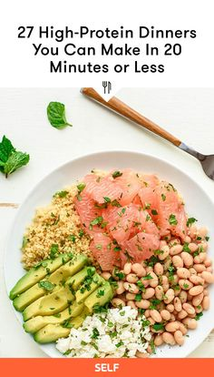 High Protein Recipes, Protein Foods, Easy Dinner Recipes, Great Recipes, High Protein Dinner, Healthy Food, Healthy Recipes, Fun Cooking, Healthy Lifestyle