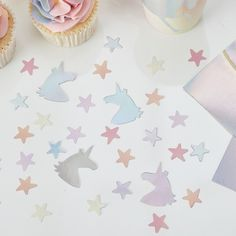 Iridescent Unicorn Confetti, Pastel and Iridescent Party Decorations, Girl's Birthday Party, Children's Party, Kids Party Decorations Unicorn Plates, Unicorn Cups, Unicorn Birthday Parties, Girl Birthday, Pastell Party, Deco Baby Shower, Unicorn Party Supplies, Kids Party Decorations, Party Ideas