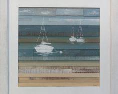 """Costera II de arte velas de madera reciclada (16 """"X 16"""")"""