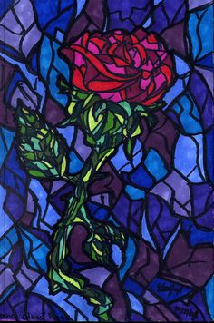 Stained Glass Rose by Shmelanna.deviantart.com on @deviantART