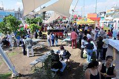 """Nezahualcóyotl, Méx. 02 Agosto 2013. Aspecto del Jardín """"Mahuizolli"""", donde hoy se realizó la  Jornada Multidisciplinaria en Apoyo a la Salud de la Mujer."""