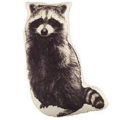 I can sew make that. Boys Pillows: Raccoon Print Throw Pillow / Land of Nod Woodland Nursery Boy, Forest Nursery, Woodland Room, Camping Room, Camping Theme, Camping Crafts, Camping Ideas, Baby Pillows, Shopping