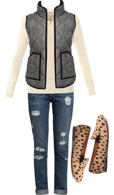 Herringbone Vest 3 from jcrew factory, shoes from madewell