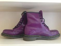 Available @ TrendTrunk.com Purple Combat Boots. By Doc Martens. Only $80.00! 2014 Trends, Doc Martens, Combat Boots, Autumn Fashion, Trunks, Fall Styles, Money, Purple, Accessories