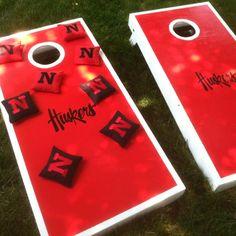 Nebraska Huskers Cornhole game