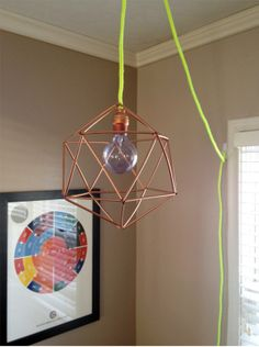 DIY geo pendant light | amaliamisc