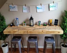 Reclaimed Wood Table with Steel Hairpin Leg Modern Custom Craft Art Bar Office Work Creative Custom Large Small Loft Pallet Unique Bench Wood Bars, Craft Table, Wood Bar Table, Recycled Wood, Reclaimed Wood Table, Pallet Dining Table, Kids Craft Tables, Reclaimed Wood, Reclaimed Wood Bars