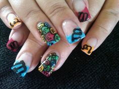 M and M's themed nail art :)