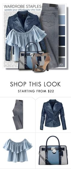 """""""Tried and True: Wardrobe Staples III"""" by breathing-style ❤ liked on Polyvore featuring WithChic and GUESS"""