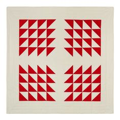 "I can't resist red and white quilts, particularly ones that are do simply and wonderfully done! ""Red White"" quilt by S.D. Evans."
