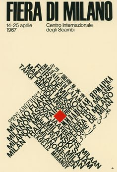 manifesto ufficiale della Fiera Campionaria di Milano, Studio CBC 1967