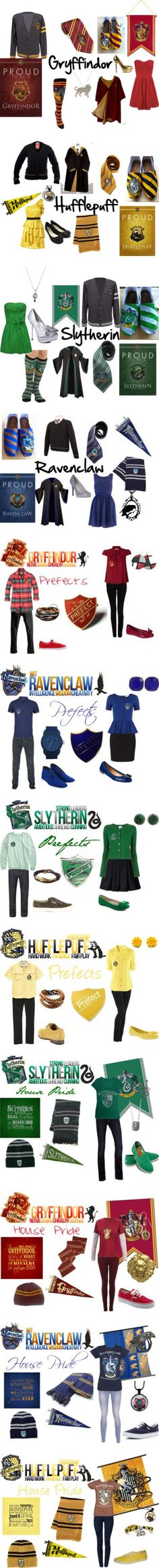 I love ALL of these so much omg but i always either get Gryffindor or Slytherin never hufflepuff or ravenclaw Objet Harry Potter, Estilo Harry Potter, Harry Potter Kostüm, Fans D'harry Potter, Harry Potter Outfits, Harry Potter Universal, Luna Lovegood, Scorpius And Rose, Mode Geek