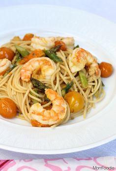 Shrimp, Asparagus & Heirloom Tomato Ginger Scampi Recipe