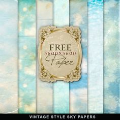 Far Far Hill: Freebies Vintage Style Sky Papers