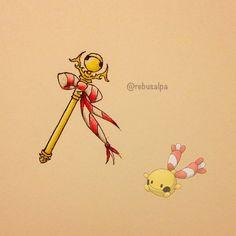 Instagram media by rebusalpa - Pokeapon No. 433 - Chingling. #pokemon #chingling…