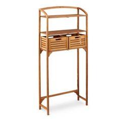 Teak Bathroom Spacesaver with Storage Baskets