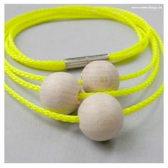 Necklace EO #3 Yellow 48 cm