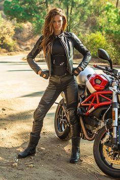 Brazilian model Lisalla Montenegro can handle a Ducati.