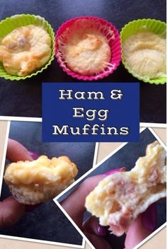 ♥Kies World ♥: Eggy muffins Lunch Recipes, Diet Recipes, Healthy Recipes, Diet Meals, Recipies, Savory Muffins, Savoury Pies, Ham And Eggs, How To Eat Better