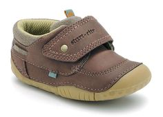 POOLE - breathable fitted leather pre-walking shoes for boys.