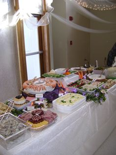 Cold Buffet Table for Appetizer Wedding Meal!