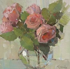 Rose Poetry, 12 x 12  Well, I have been away and busy catching up, and am just getting to posting the rose painting that I mentioned last ti...
