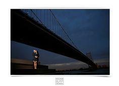 Philadelphia Fall Engagement Session | Walt Whitman Bridge | Race Street Pier | Krista Patton Photography