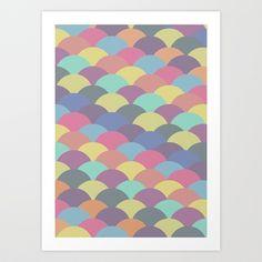 Circles Abstract 3 Art Print by Kimsey Price - $15.60