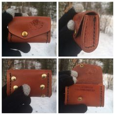 KellysLeatherDesign shared a new photo on Etsy Kelly S, You Loose, Twelve Days Of Christmas, Change Purse, Leather Design, Things That Bounce, Sunglasses Case, Handmade Items, Pouch