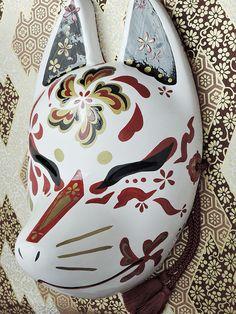 Porcelain Tiles In China Product Kawaii, Japanese Fox Mask, Kitsune Mask, Hotarubi No Mori, Mask Drawing, Japanese Folklore, Cat Mask, Cool Masks, Masks Art