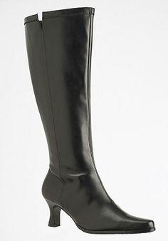 6bd6b7038957 Plus Size Tall modern wide calf stretch boots by Via Accenti®