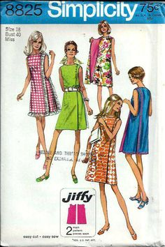 VTG Simplicity 8825 Misses Jiffy Front Wrap by DawnsDesignBoutique, $16.99
