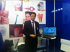 Anthony Novelli from HubSpider at Expodental 2014 ~ #GoogleGlass ~ HubSpider / Curaprox / Curaden ~ www.hubspider.com