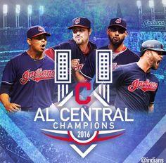 2016 A.L. Central Division Champs Cleveland Indians!