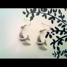 Gorgeously designed earrings with Tibetan Silver Swallows. #ukmade #madeinuk  Only £6.49 including delivery  http://www.madecloser.co.uk/jewellery-watches/swallow-earrings