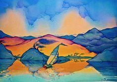 """REFLECTIONS"" - watercolor by Neil Waldman"