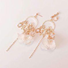 Tiffani Roolia Kawaii Accessories, Jewelry Accessories, Fashion Accessories, Fashion Jewelry, Kpop Earrings, Chain Earrings, Cute Jewelry, Body Jewelry, Chandelier Earrings