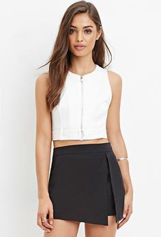 Zip-Front Belted Top | Forever 21 - 2000165256