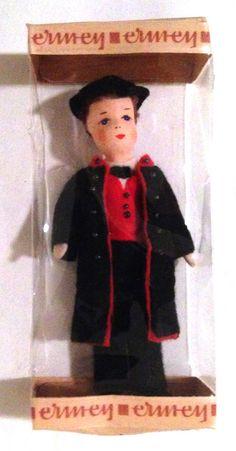 MIB Vtg Miniature Ermey Erna Meyer Dollhouse Man Doll Schwarzwald Germany MIG  #Ermey