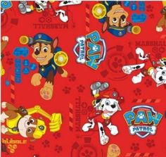 New Design! Paw Patrol Quilt Fabric High Quality Cotton Chase Rubble Marshall #DavidTextiles