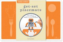 Fun place mats with Montessori style places for table setting.  To bad they are not reusable.