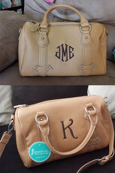 What's your favorite monogramming style? Don't you just love this Signature Barrel bag?  www.myinitials-inc.com/kathybowen pursepartybiz@gmail.com 410.200.7704