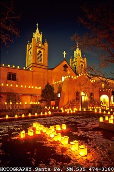 I was in December  in Santa Fe and loved the lights and adobe buildings