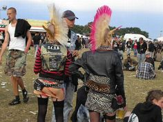 German punk girls - love the bumbags FOR REALSIES.