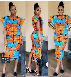 Awesome Short Ankara Dress Styles 2018 for Lovely Ladies.Awesome Short Ankara Dress Styles 2018 for Lovely Ladies Short Ankara Dresses, Ankara Long Gown Styles, Ankara Skirt And Blouse, African Wear Dresses, Latest African Fashion Dresses, African Print Fashion, Africa Fashion, African Attire, Ankara Styles