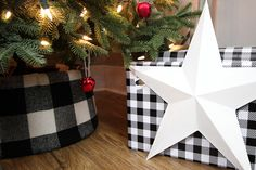 DIY Buffalo Check Tree Collar | The Creek Line House Tree Collar Christmas, Christmas Tree, Decorating Tips, Holiday Decorating, Buffalo Check, Christmas Crafts, Christmas Ideas, Jingle Bells, Diy Projects To Try