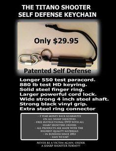 Titano Shooter self  defense keychain by sharpshooterkeychain