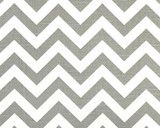 Zig Zag Ash and White by Premier Prints